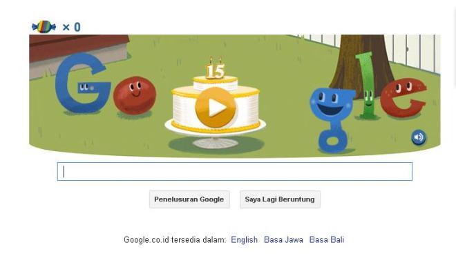 Google Ulang Tahun ke-15