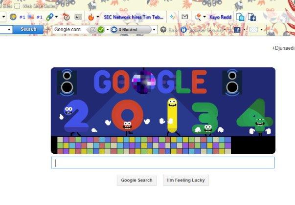Google & Tahun Baru 2014