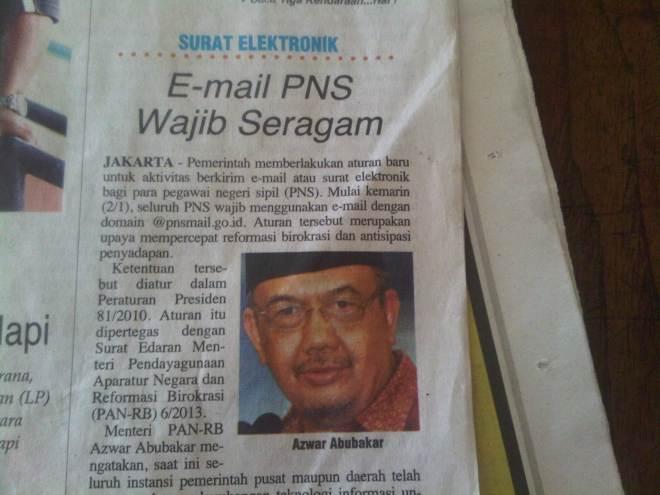 Email PNS Wajib Seragam
