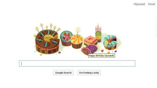 Kue Tart HUT dari Google untuk Aku