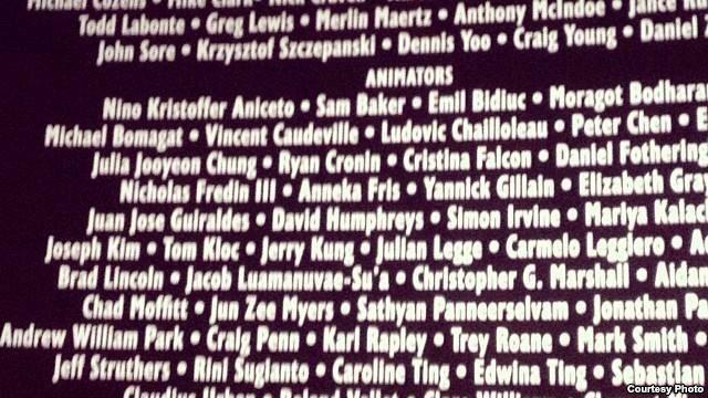 Nama Rini Sugianto di Credit Title Hobbit 2