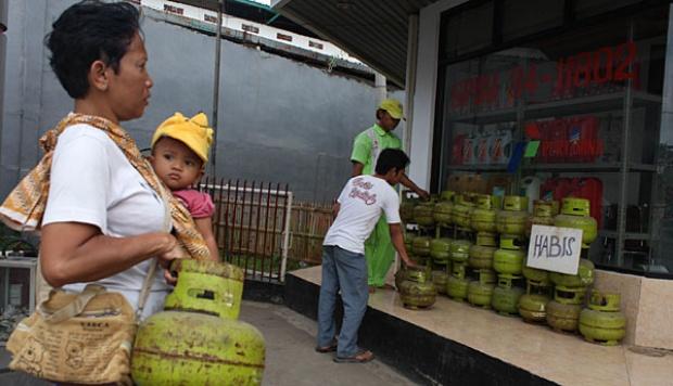 Tabung Gas Elpiji Melon Mulai Langka