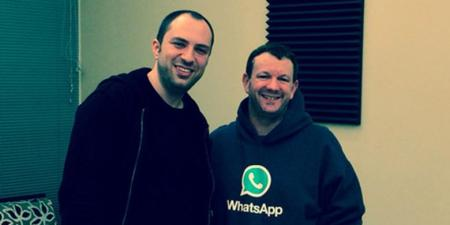 Duo pendiri WhatsApp Jan Koum (kiri) dan Brian Acton