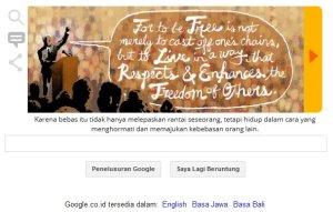Google & Nelson Mandela - Karena bebas itu