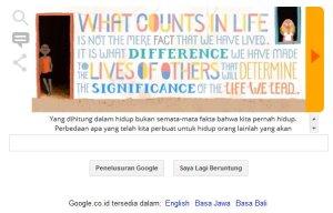 Google & Nelson Mandela - Yang dihitung dalam hidup