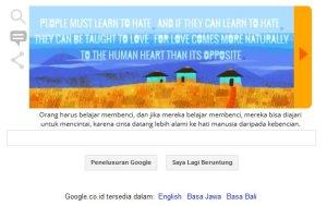 Google & Nlson Mandela - Orang harus belajar