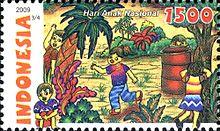 Prangko peringatan Hari Anak Nasional