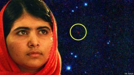 Malala Yousafzai untuk asteroid yang ditemukannya pada 2010 lalu