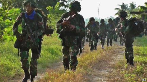 Pasukan TNI dalam latihan Pasukan Pemukul Reaksi Cepat (PPRC) di Poso, 31 Maret lalu