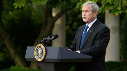Presiden Bush menggunakan 'poros setan' - metafora keagamaan yang tepat dipakai dalam dunia politik