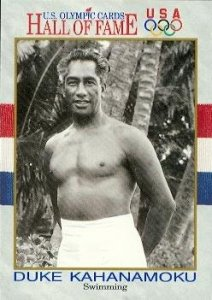 Duke Kahanamoku Hall of Fame Olympic Card