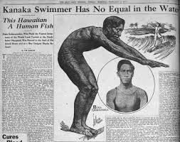 The Salt Lake Tribune featuring Duke Kahanamoku in 1913