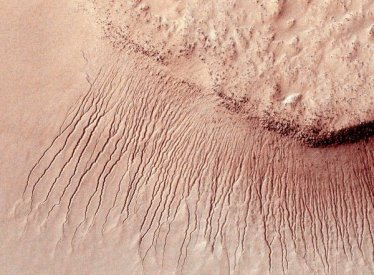 Channels cut in the Martian surface as shot by NASA's Mars Reconnaissance Orbiter in 2011 - NASA/Reuters