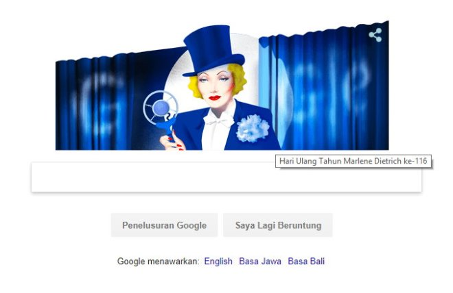 Google & Marlene Dietrich